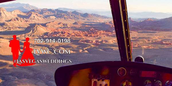 Red Rock Canyon/Las Vegas Strip Combo Helicopter Wedding